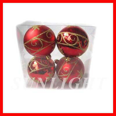 red patterned decoration balls christmas balls 7cm