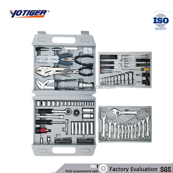 126pcs All Hand Tools Names, 4 layers Complete Tool Box Set