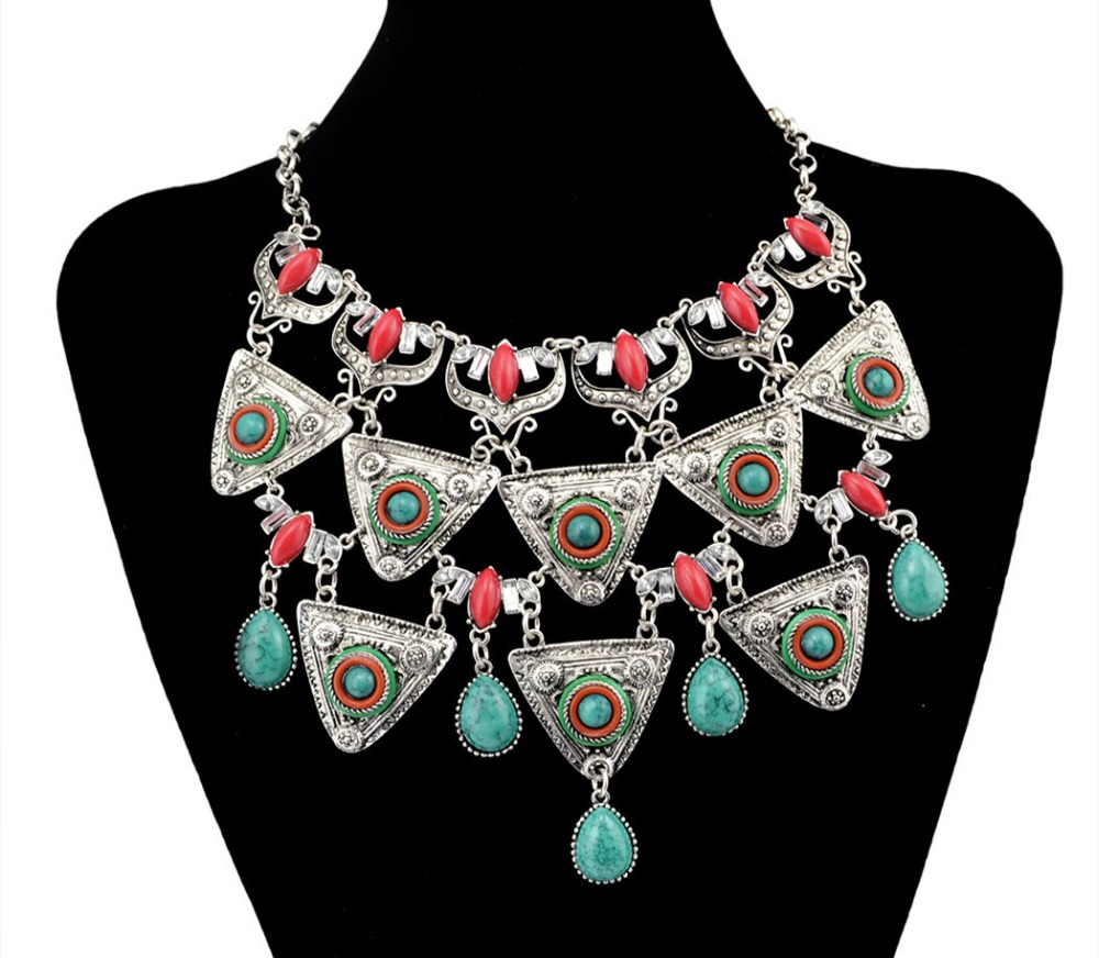 2017 Trendy female necklace gemstone jewelry new