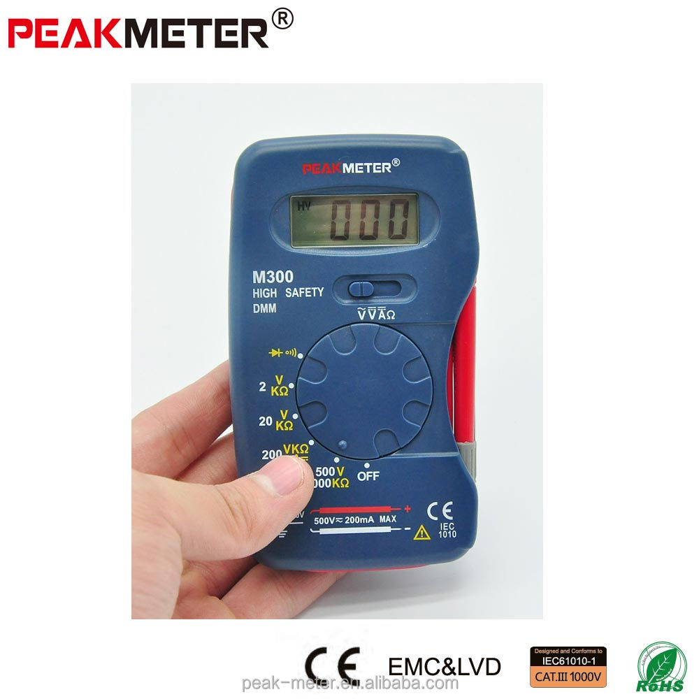 2017 CE Peakmeter low price pocket size Digital Multimeter PM320 with CE RoHS