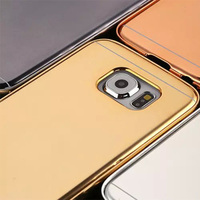 Best selling products Luxury Slim Aluminum Metal Mirror Mobile Phone Case for Samsung Galaxy S6