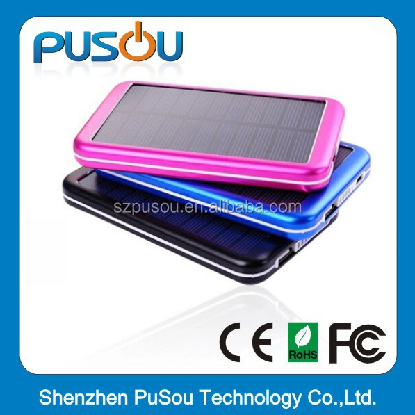 OEM factory wholesale portable battery charger 10000mah solar power bank,sedex and disney audit power bank