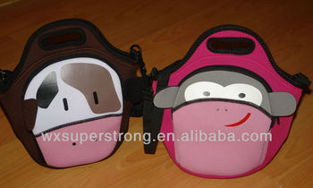 2016 Waterproof Neoprene Lovely Lunch Box Bags, The new cartoon lunch bag for childre, A small bag, D-P bags