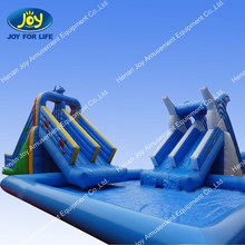 Commercial grade dolphin inflatable water slide with pool