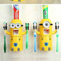 Happy family trendy design christmas decorations/gifts /minion automatic toothpaste dispenser