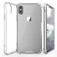 Soft TPU Bumper Frame Hard PC Back Cover Case For iPhone X 8 7 7G 6G 6 Plus