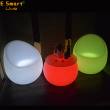 2017 latest design sofa rechargeable Morden Remote Control LED Light Sofa , RGB Light Furniture Sofa