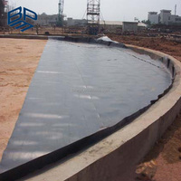 1.5mm Smooth and Black HDPE Geomembrane Liner for Plastic Water Tank