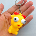 Custom animal keychain squeeze ,OEM pvc squeeze keychain animal,3D Cartoon eyes pop out keychain animal