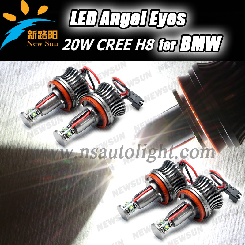 New version Hot sell 20w H8 led angel eyes/20W C ree H8 Angel eyes/for BMW 1/3/5/6/7/X/Z Series led angel eye