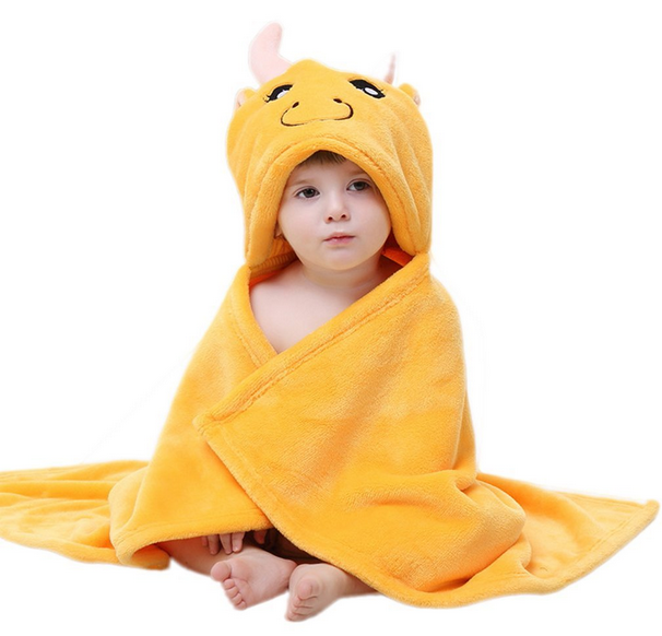 100%cotton baby hooded towel