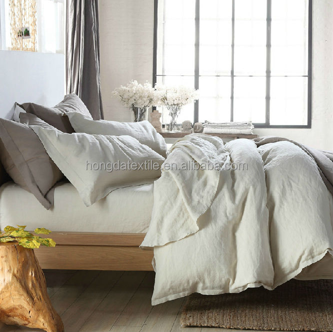 Vintage/stone washed 100% French linen bedding