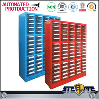 Light duty drawer cabinet, steel frame spare parts cabinet