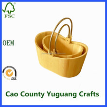 small wooden buckets for packing eggs and fruits