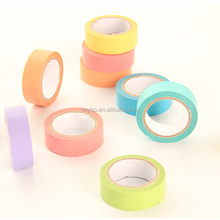 Hot sale Adhesive Tape Candy Color Washi Rainbow Sticky Paper Masking Tape Scrapbooking Diy paper tape