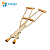 High Quality Wooden Underarm Walking Crutches
