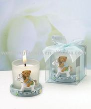 Blue Teddy Bear Candleholders Baby Shower Favors