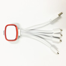 Free Sample LED 4 in 1 Multi-charging Cable, multi charger 4 in 1 universal cable