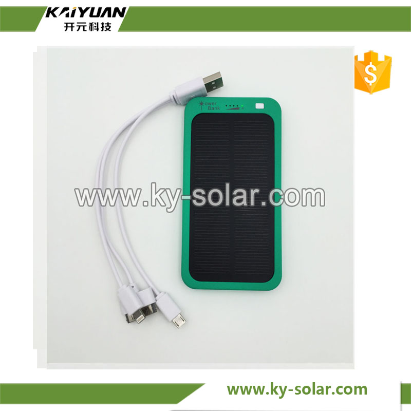 2016 Direct Deal 5000mah USB wireless solar power bank Solar Charger