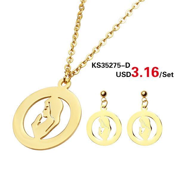 Mothers day gift set Kalen gold color jewelry women design jewelry