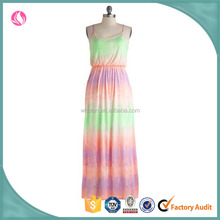 Latest dress design woman rainbow colored dresses