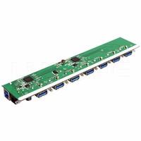 Slim design 7 port usb 3.0 hub pcb charging and data sync pcba assembly