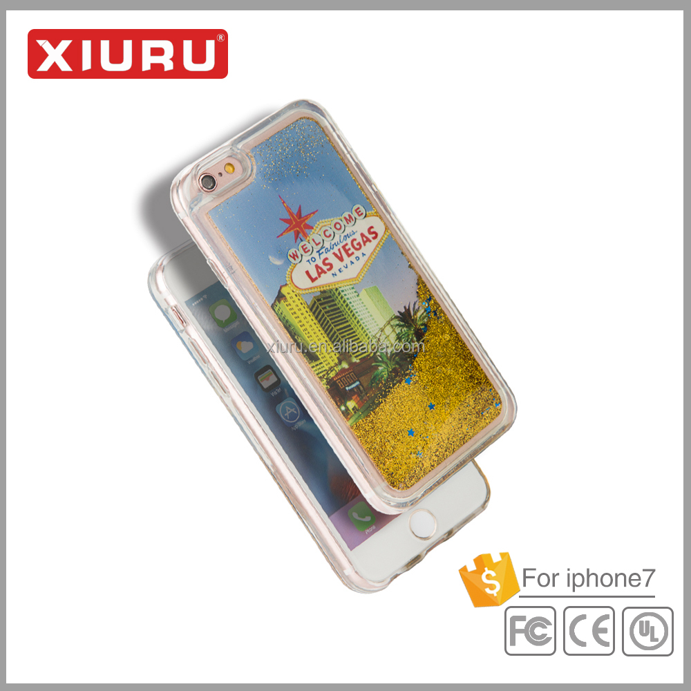 high quality wholesale tpu acrylic phone case for Iphone phone case quicksand