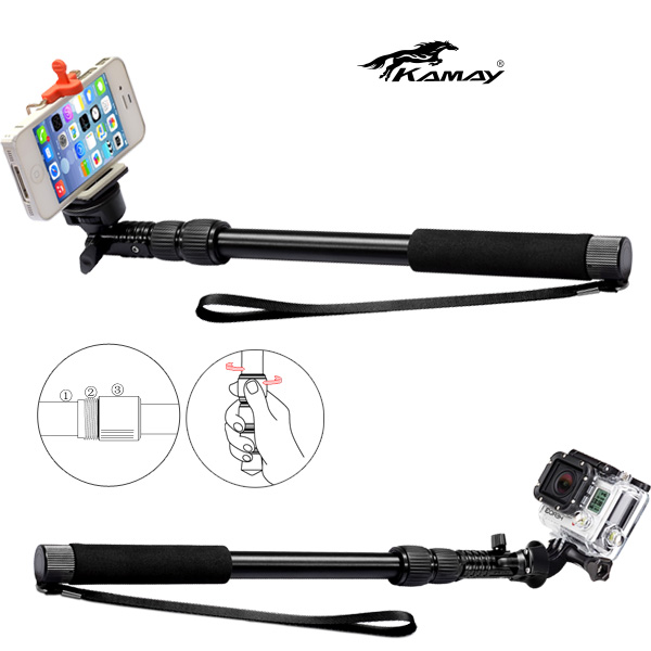 2014 new hot mini travel flexible wireless mobile phone clip for mono pod amd monopod