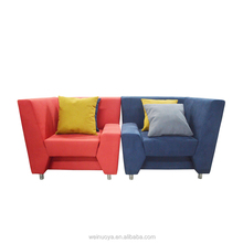 Single seat sofa/ cafe sofa/ modern restaurant booth seating sofa