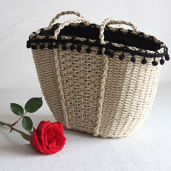 Rattan Bags Wholesale Summer Beach Straw Handbags with  lady