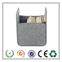 Handmade household grey felt storage basket for promotional