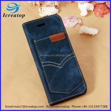 New design PU leather phone case for iPhone 7 plus, PU cowboy phone cover design, beautiful cover for mobile phone