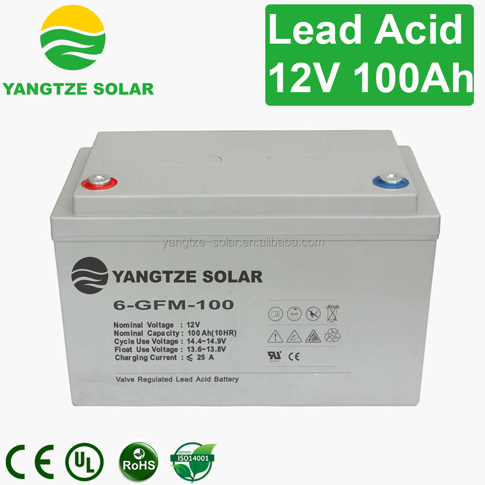 Long working life 12v 100ah solar energy storage battery