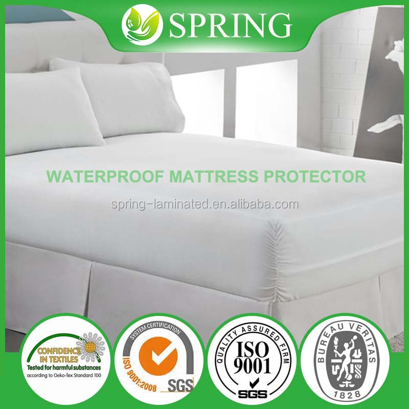 Amazon.com hot selling waterproof mattress protector, velcro zipper sealed, six side waterproof, anti- bacterial lab testified