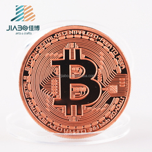 custom design 3D copper plating bitcoin metal replica coin