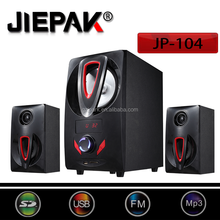 Home Theatre 2.1 Channel Multimedia Subwoofer System with Bluetooth SD MMC Card USB FM for Computer Loptop TV Cellphone speaker
