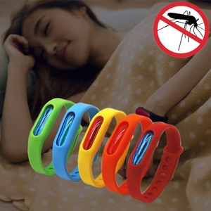 Dropshipping wholesale 5 PCS Anti-mosquito Silicone Repellent Bracelet Buckle Wristband Bugs Away, Suitable