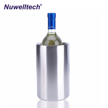 Good quality small suitable 1 bottle stainless steel red wine ice bucket