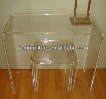 Transparent Living Room Computer Table