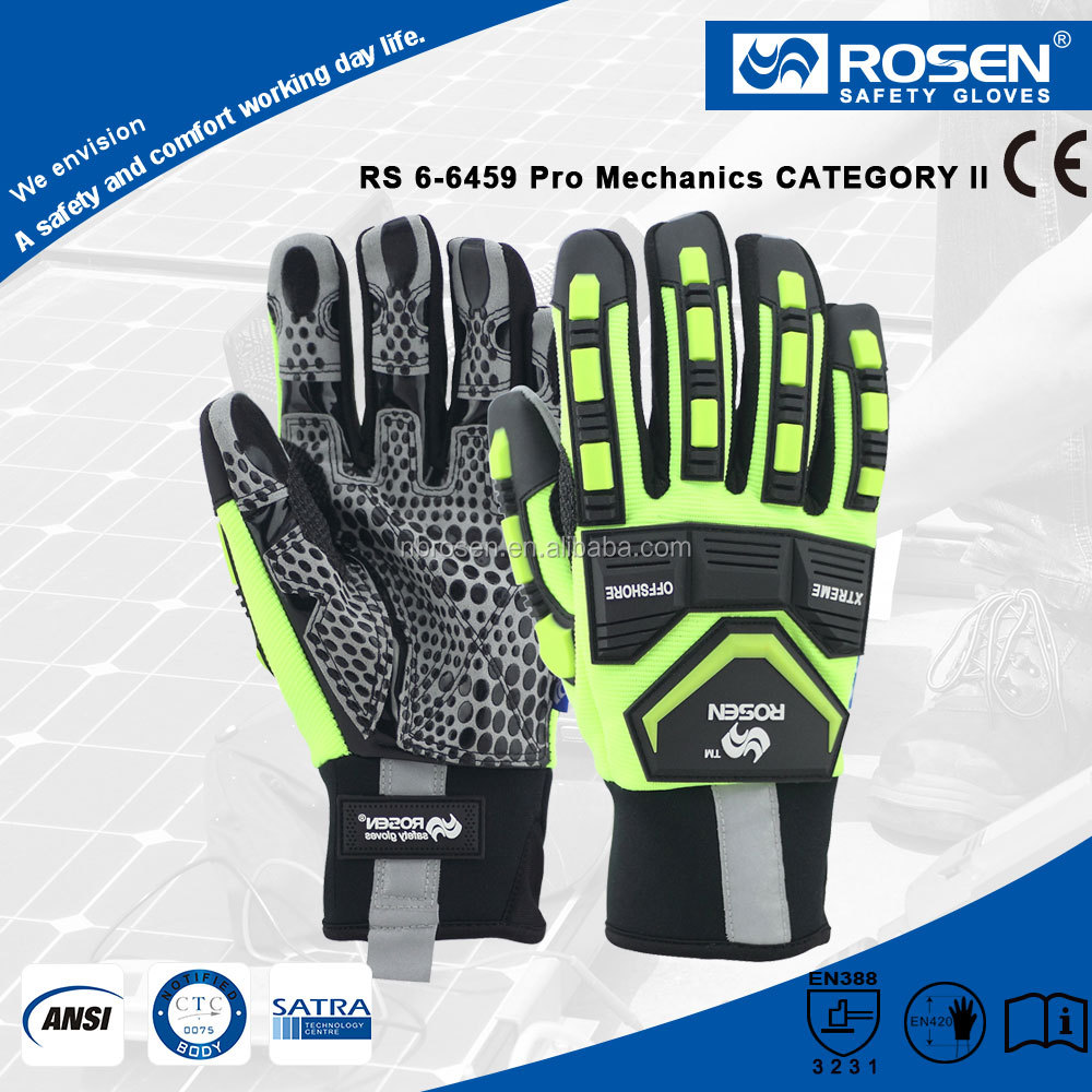 RS SAFETY Synthetic leather working and Safey hand glove for impact resistant gloves finger protection