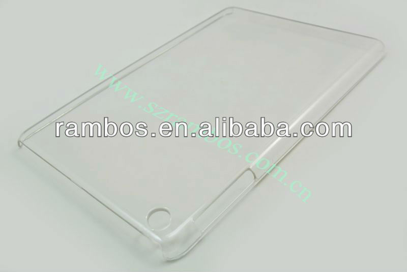 Hot crystal clear hard case para iPad mini para o iPad 4