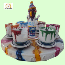 [Ali Brothers]Kids attractions mounted teacup ride amusement park coffee cup rides