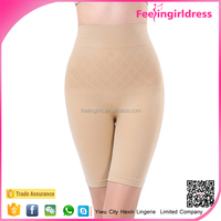 Top Quality Nude High Waist Knee Length Slim Fitness Seamless Woman Underwear Shorts