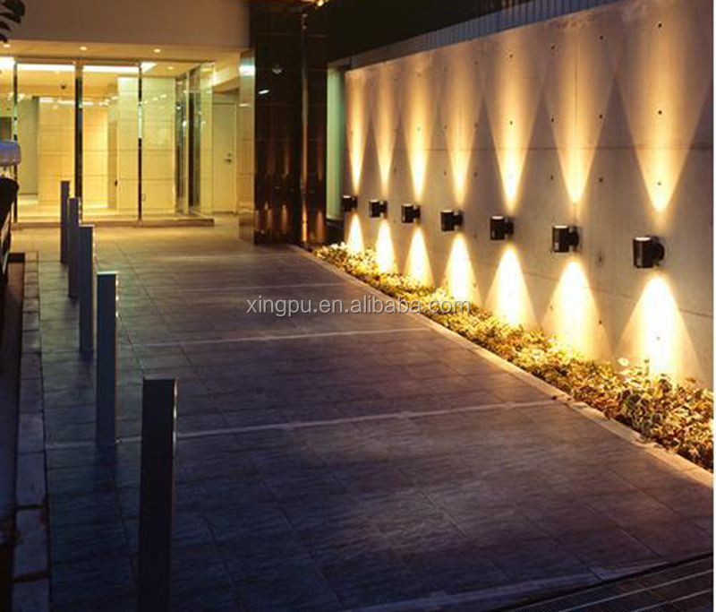 Wholesale Hot selling 1x3W Square led wall light, outdoor led wall ...