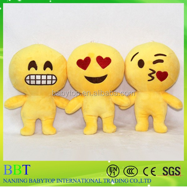 China wholesale stuffed cartoon toy plush emoji pillow
