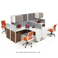 Wire hidden office workstation 4 people office desk office partition for call center