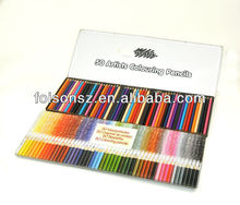 pencil boxes for 24 colorful pencils/metal tin pencil case