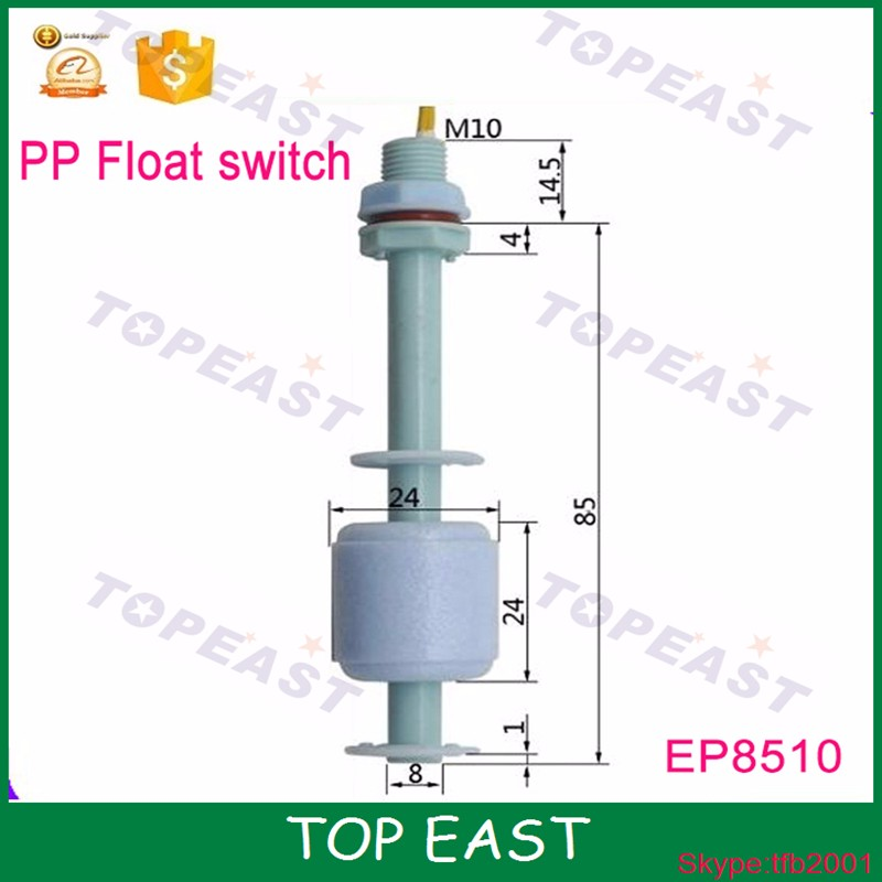 Plastic water level sensor manufacturers M10*85mm Magnetic float switch