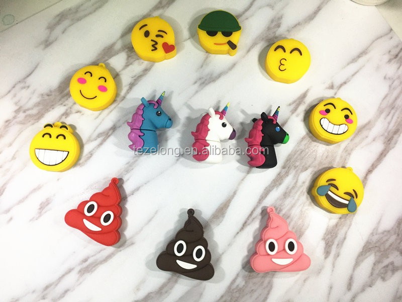 2017 special custom emoji usb flash drive 3d smile expression usb stick U disk