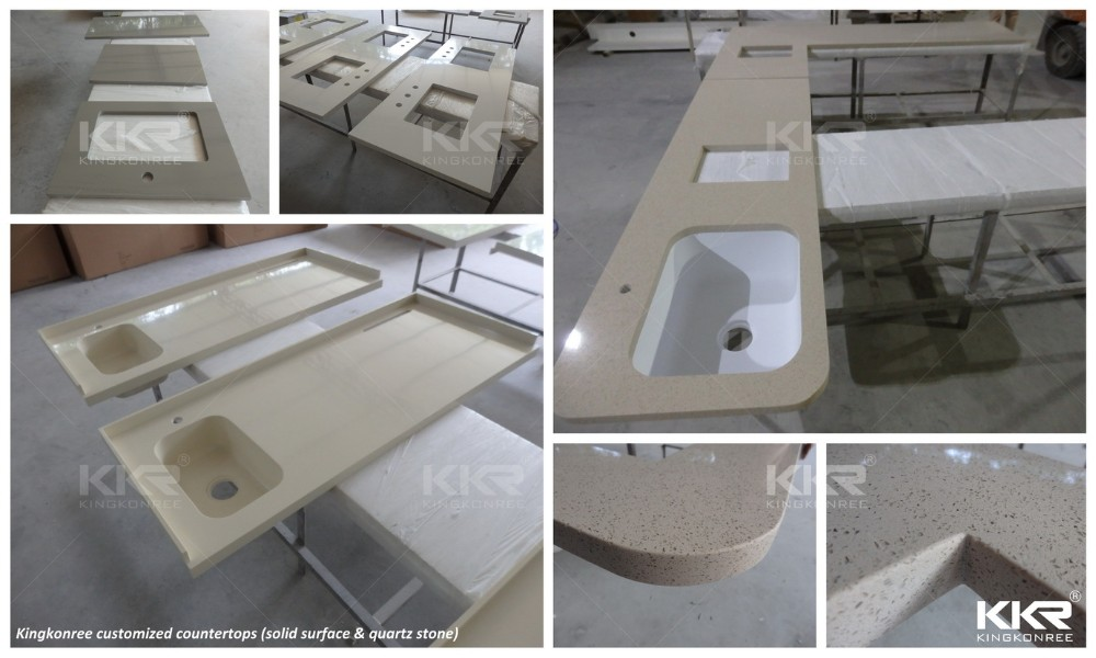 Prefabricated Kitchen Islands Epoxy Resin Counter Tops For Kitchen View Solid Surface